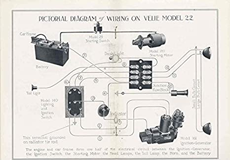 amazon com 1916 velie model 22 remy electric owner s manual rh amazon com HVAC Wiring Diagrams Simple Wiring Diagrams
