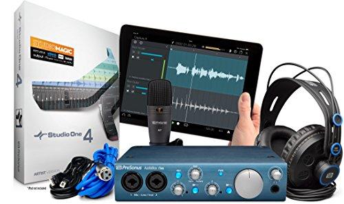 PreSonus AudioBox iTwo Studio USB 2.0 Recording Bundle with Interface, Headphones, Microphone and Studio One software