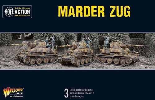 Bolt Action Marder Tank Destroyer Zug Box - Plastic