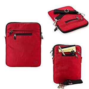 VanGoddy Fire Red Hydei Padded Carrying Case for the E Fun Nextbook Premium 9