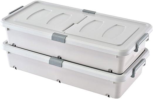 WANG YUE Caja de Almacenamiento de plástico Gris Simple y práctica ...