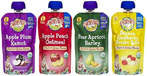 Earth's Best 2nd Foods Fruit & Grain - Variety Pack - 4.2 oz - 24 pk (Earth Best Fruit Variety Pack)