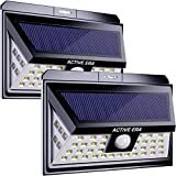 Active Era Solar Powered Wireless Outdoor 44 x LED Security Light with Motion Sensor & Waterproof Design, Bright Solar Lights for Front Door, Patio, Back Yard, Driveway, Steps & Garage (2 Pack).