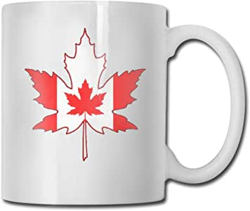 Amazon.com: Canadian Flag Porcelain Mugs, Tea and Coffee ...