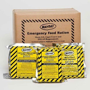 Mayday Food Bars Emergency 3600 Calorie Food Bars (20 per case) weight 39 lbs ()
