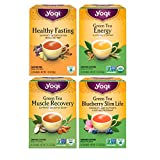Yogi Tea Slimming Energy Variety Pack - 4 Different Slimming Energy Muscle Recovery Herbal Teas