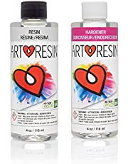 ArtResin - Epoxy Resin - Clear - Non-Toxic - 8 oz (4 oz Resin + 4 oz Hardener) (236 ml)