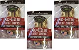 (3 Packages) Earth Animal No-Hide Beef Chews 7'' (2 Chew Per Pack, 6 Chew Total)
