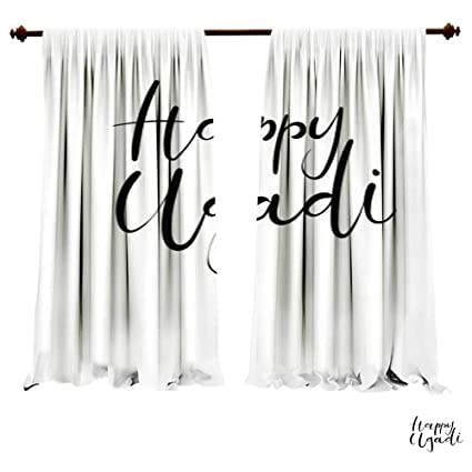 Outstanding Amazon Com Blackout Curtain Panels Happy Ugadi Hand Interior Design Ideas Inamawefileorg