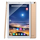Padcod Android 7.0 Tablet 10.1 inch, Quad-Core Processor 1GB RAM 16GB ROM 2G/3G Network, 4500mAh Battery Phablet (Gold)