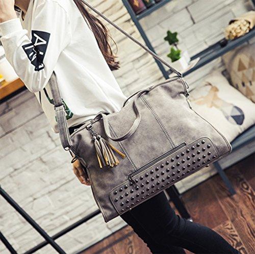 Hobo Large Tote Womens Purse Handbag Leather pu Fashion Grey Designer Embossed 1q8wxga6