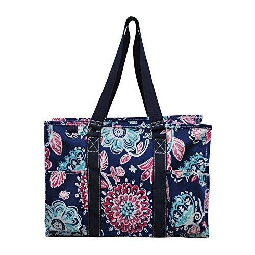 NGIL All Purpose Organizer Medium Utility Tote Bag 2018 Spring Collection (Medievil Blossom Navy)