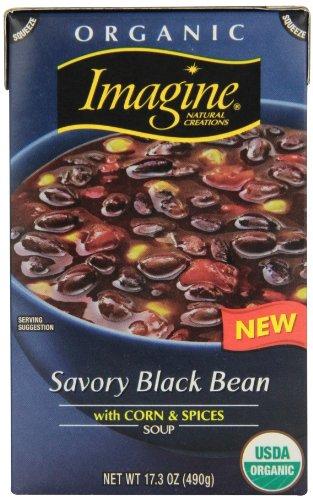 Imagine Organic Soup, Savory Black Bean, 17.3 Ounce (Pack of 12)