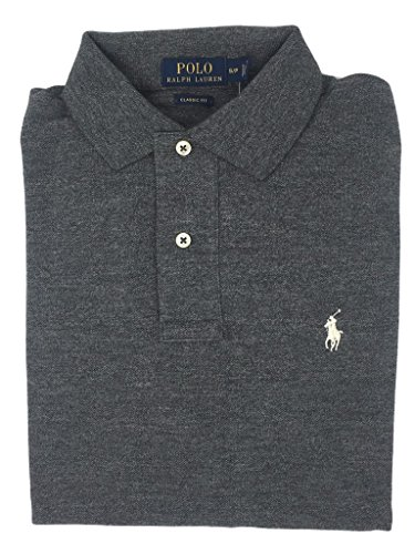 Polo Ralph Lauren Mens Classic-Fit Mesh Short sleeve Polo (BlackHtrWhitePny, - Lauren Mens Polo Ralph