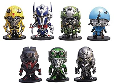 "Herocross Transformers: the Last Knight: 2"" Set a Pvc Figure Box"
