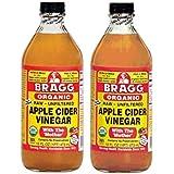 Organic Raw - Unfiltered Apple Cider Vinegar, Bragg 473ml (16oz) x 2 bottles