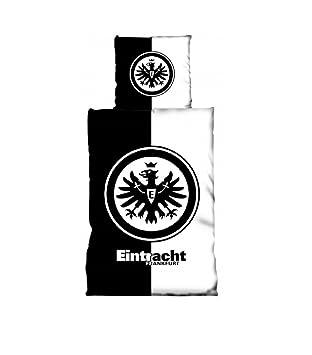 Eintracht Frankfurt Logo Bettwäsche 135x200 80x80 Schwarzweiß