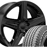 20x9 Wheels U0026 Tires Fit Jeep, Dodge, Chrysler SUV   Grand Cherokee Style  Black