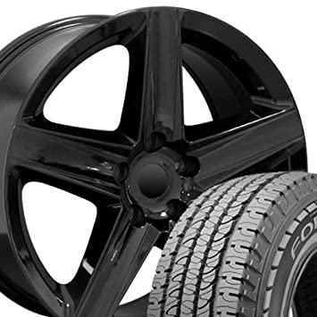 20 x 9 ruedas y neumáticos para Jeep, Dodge, Chrysler SUV - Grand Cherokee estilo negro llantas W/Goodyear neumáticos, Hollander 9082 - Set: Amazon.es: ...
