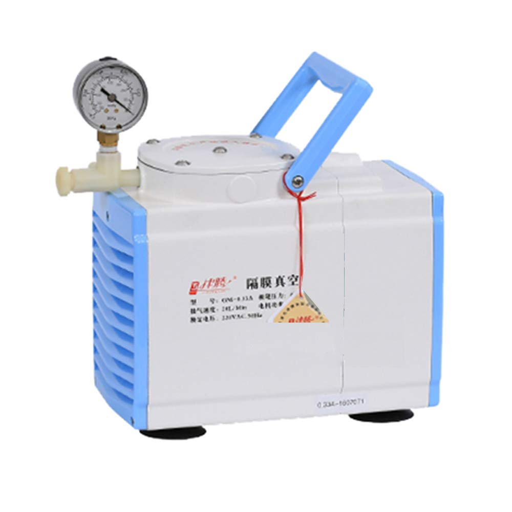 Huanyu Oliless Diaphragm Vacuum Pump Oil Free Anticorrosive Pump Industrial Lab 20L/min (Ordinary Type, GM-0.33A(Single Head))