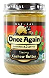 Once Again - Natural Cashew Butter - 16 oz by Onceagain