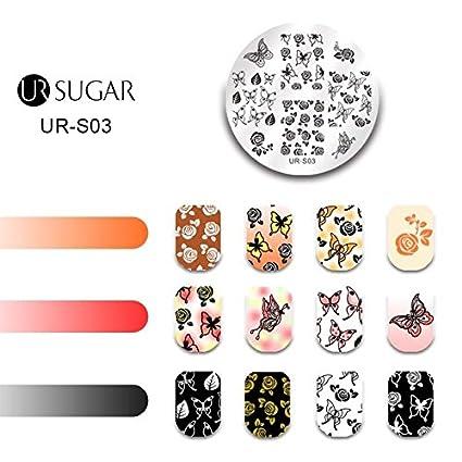 buy fashladytm s03 ur sugar nail stamping plates lace flower