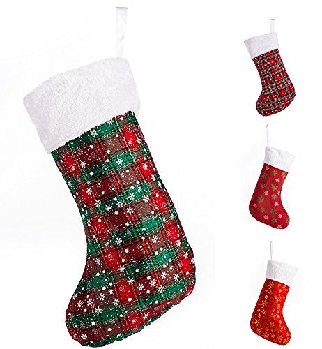 SANNO Christmas Stockings Snowflake decorations