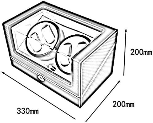 ワインディングマシーン ウォッチワインダーボックス4 +ボックスウォッチワインダーワインディング0自動ウォッチボックス腕時計自動 超静音設計 (Color : A)