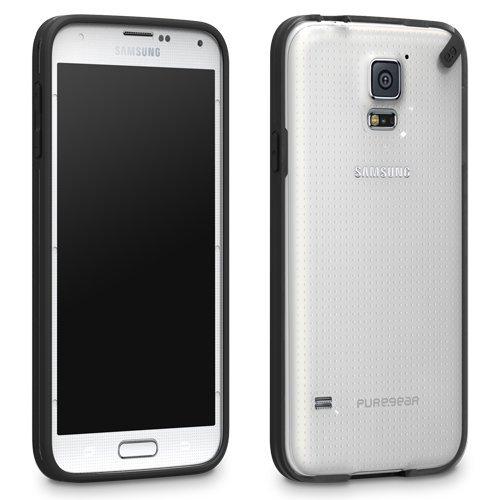 new photos 2a232 06e21 PureGear Slim Shell Case for Samsung Galaxy S5 - Clear/Black