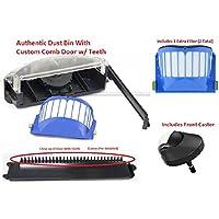 Upgraded Irobot Roomba Aerovac Dust Bin with Comb Door 500 600 Series , Front Caster Wheel and Extra Filter