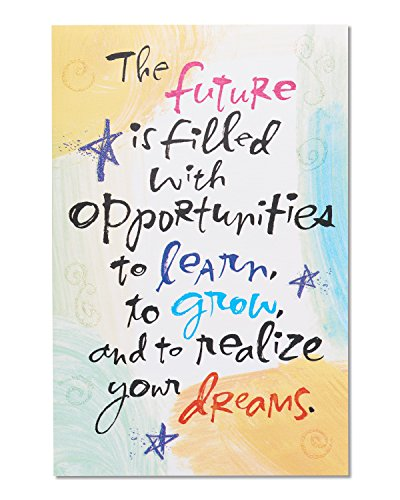 American Greetings Future Graduation Card with Glitter, (Congratulations Pack)