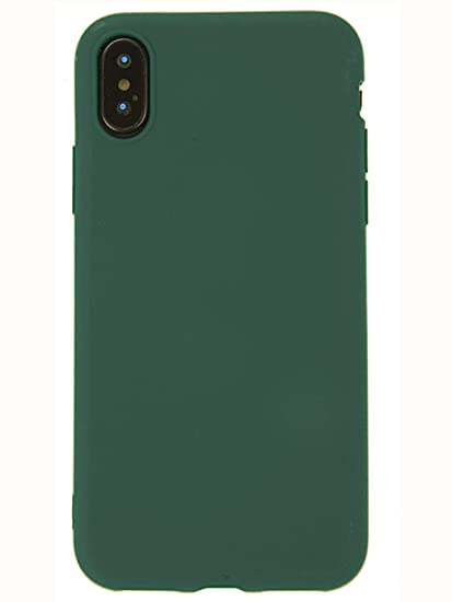 competitive price fc8f9 7d446 MAYCARI Forest Green Case for iPhone Xs max, Soft Full Protective Silm  Rubber Drop Protection Chic Retro Cover