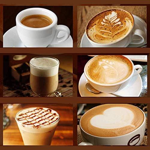 Qinmo Machine à café glacé, Domestique Machines à café, Machines à café Accueil Vapeur Semi-Automatique Commercial Bureau Italien Fouets à Lait Machine à café Noir