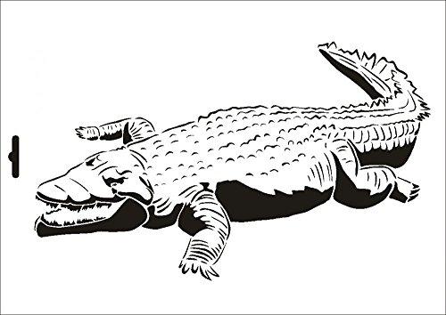UMR-Design W-075 Crocodile Textil- / wallstencil Size A5
