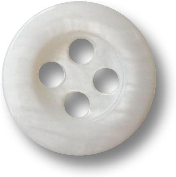 Knopfparadies 9mm 10er Set edle Klassische kleine wei/ße Vierloch Kn/öpfe aus echtem S/ü/ßwasser Perlmutt f/ür Blusen /& Hemden//wei/ß schimmernd//Perlmuttkn/öpfe///Ø ca