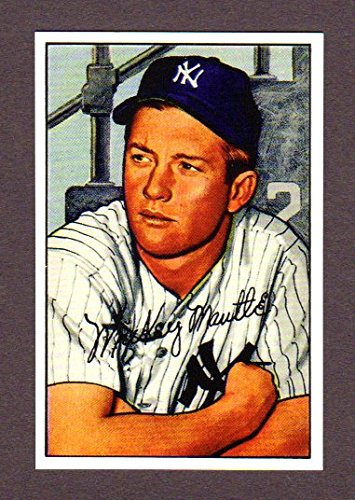 1952 Topps Mantle - Mickey Mantle 1952 Bowman Baseball Reprint Card (Yankees)