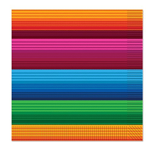 Beistle Fiesta Luncheon Napkins, Multicolored (Value 3-Pack)