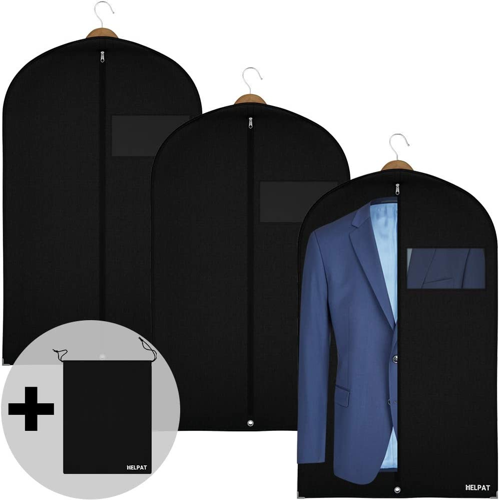 incl free shoe-bag high quality suit-carrier // clothes-cover // breathable material suit-cover first-class protection for your suits and clothes 3x Premium Garment bags 100 x 60 cm