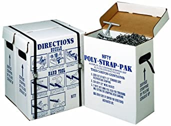 """Nifty Products SPSPKIT 252 Piece Polypropylene Portable Strapping Kit, 3000' Length x 1/2"""" Width Coil, Black"""