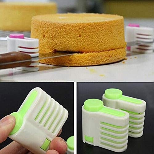 2Pcs/pack 5 Layers Home DIY Cake Pie Slicer Sheet Guide Cutter Server Bread Slice Knife 5 Layers Kitchen Cutting Fixator Tool from Free-Ship