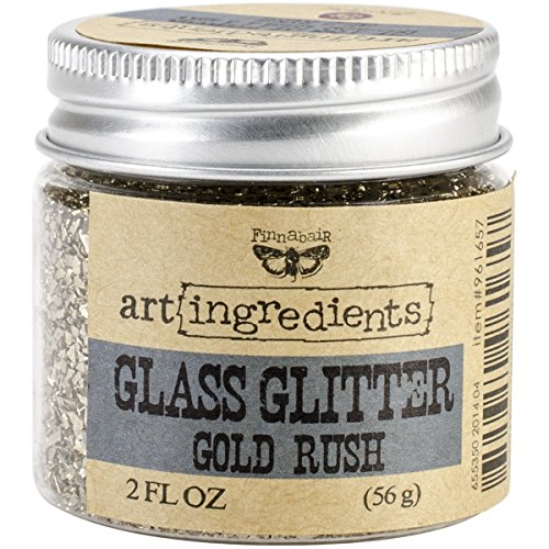 Prima Marketing Art Ingredients Glass Glitter, 2-Ounce, Gold Rush (Arts Prime And Crafts)