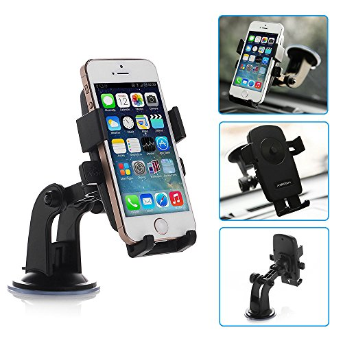 Micromax A70, Micromax A73, Micromax A75 Car Holder 360° Windshield Mount Bracket For Mobile Cell Phone iPhone Samsung GPS - A70 Gps