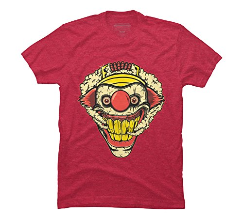 Design By Humans Sweet Tooth Men's Large Red Heather Graphic T Shirt -