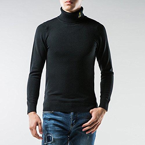 Jdfosvm männer - Pullover solid Winter männer männer Hemd, ärmel sitzende Rollkragen - Pullover Mode,schwarz,XL