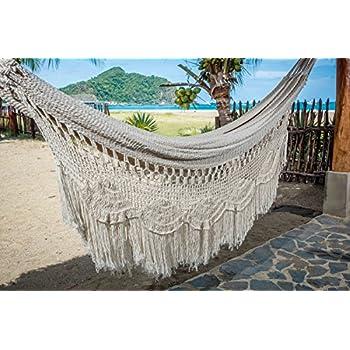 handmade macrame mayan hammock matrimonal hammock double hammock brazilian hammock   made with amazon     white fringe wedding hammock   garden  u0026 outdoor  rh   amazon