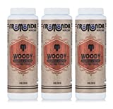 Fromonda Woody Talc-Free Body Powder. All Natural. (Pack of 3), 5 oz each