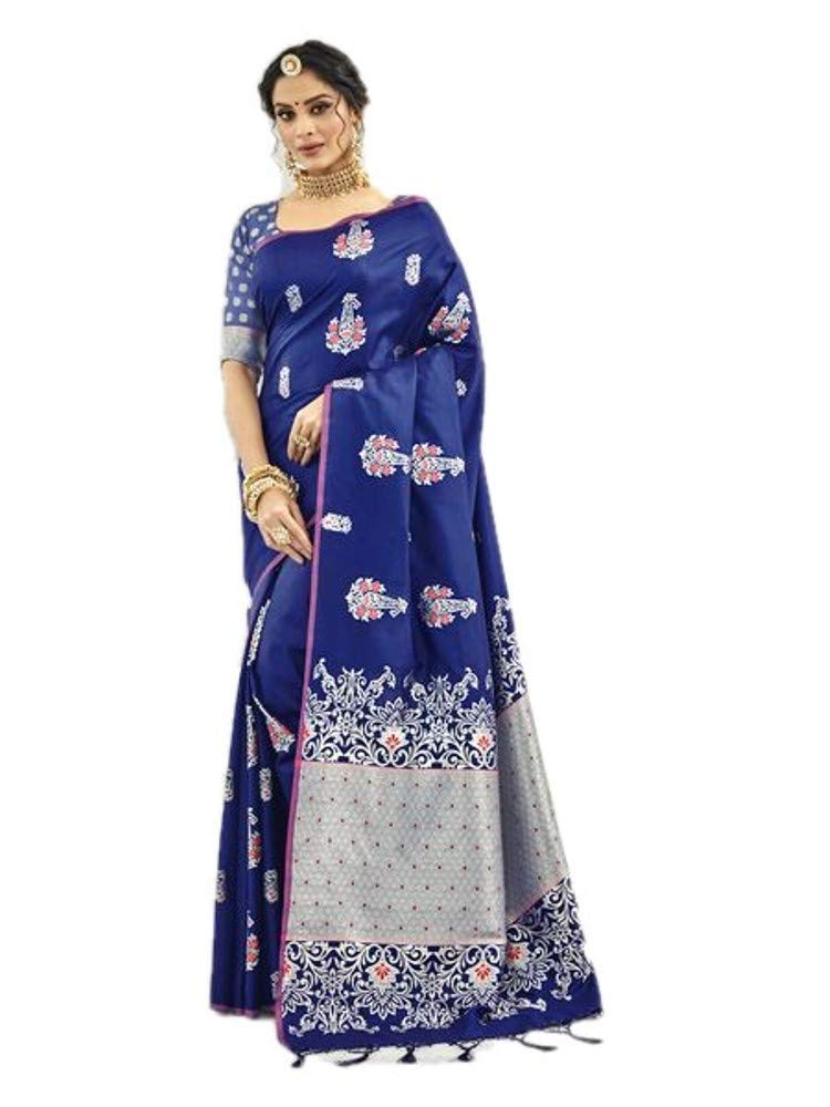 Indian Designer Collection Sari Traditional Silk Saree Party Wear Banarasi Silk Saree Designer Heavy Silk Sari Indian Silk Saree 372 Blue