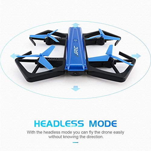 Goolsky-JJRC-H43WH-Selfie-Drone-with-720P-HD-Camera-Headless-ModeG-sensorAltitude-Hold-24GHz-4CH-6-Axis-Gyro-RC-Quadcopter