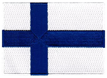 Amazon.com: Finland Flag Embroidered Patch Finnish Iron-On National Emblem: Clothing