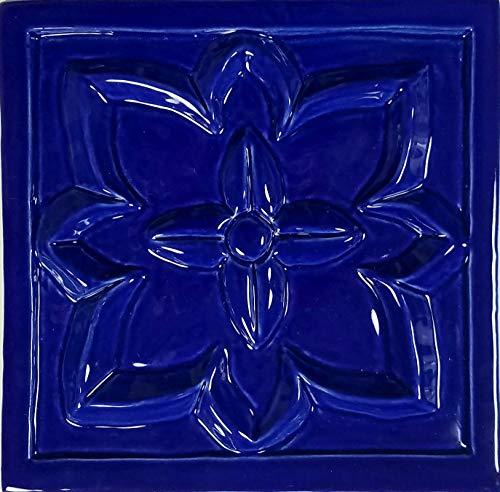 Artistry in Mosaics Floret Deco Royal Blue Ceramic Swimming Pool Mosaic (6